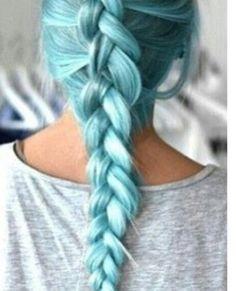 Teinture turquoise bleu pastel flash