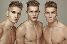 Markus Antson Triplets - Hans, Karl and Joel Eye Candy Men, Identical Twins, Handsome Faces, Many Men, Twin Brothers, Male Photography, Triplets, Male Face, Attractive Men