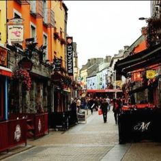 Galway Ireland! Such a Pretty City!  Love the shops and pubs on this street.