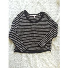 {victoria's secret} dolman sweater Black and white striped dolamn sweater from Victoria's Secret. Oversized and cozy. Pair with skinny jeans ans booties for a casual but chic look!   70% acrylic and 30% wool  Gently worn with very slight pilling Victoria's Secret Sweaters