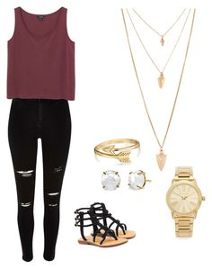 """""""Untitled #1"""" by sydney-alexis-spradley ❤ liked on Polyvore featuring Mystique, Monki, Forever 21, Michael Kors and Bling Jewelry"""
