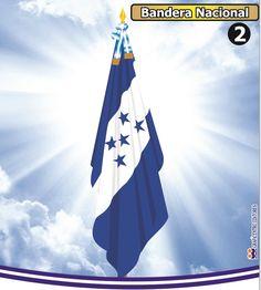 La BANDERA NACIONAL de Honduras se creó durante la presidencia de José María Medina el 16 de febrero de 1866 por el decreto Legislativo No. 7. Su diseñó se basó en la bandera que representaba a las Provincias Unidas del Centro de América. Conforme los años fue cambiando hasta tener el diseño con el cual la conocemos ahora.