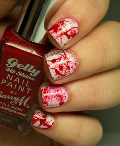 Perfect Halloween Nail Idea!! The Nailasaurus: 31DC2013 Day 24: Inspired by a Book