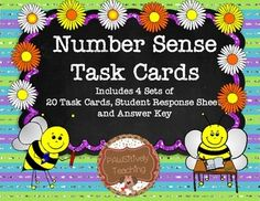 This download includes 4 unique sets of 20 number sense task cards that are perfect for centers, independent work, or a game of SCOOT.     Sample of Type of Questions Included in This Set: What number is shown below? ( Reading Base Ten Model) Write this number in expanded form.