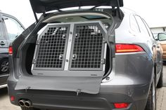 Protect your car interior and transport your dogs safely and securely #jaguar #jaguarFPace www.transk9.com