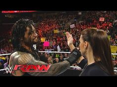 """Roman Reigns reminds Stephanie McMahon that he is the """"authority"""" in WWE: Raw, March 21, 2016 - YouTube"""