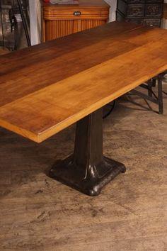 table industrielle pied de machine fonte