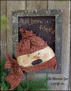 Prim Snowman Primitive Christmas, Country Christmas, Christmas Signs, Christmas Snowman, Christmas Holidays, Christmas Ornaments, Xmas, Snowman Decorations, Christmas Decorations