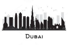 #Dubai #City #skyline #silhouette by Igor Sorokin on @creativemarket