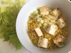 Cuscús con tofu de almendras