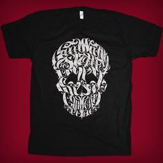 Get the original Seven Deadly Sins skull t-shirt by Joby Cummings only at Chop Shop $22