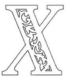вытынанка русские буквы алфавит трафарет х