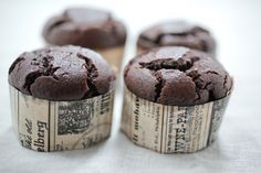 Chocolate cupcakes - flourless  yummy - and healthy (ish:)