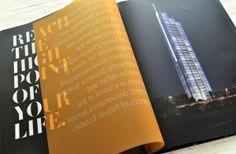 Live the High Life, Nitesh Estates – Park Avenue on Behance Buch Design, Graphisches Design, Page Design, Layout Design, Graphic Design Brochure, Brochure Layout, Branding Design, Graphic Design Books, Pamphlet Design