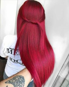 Awesome Red Hair Color Shades for Long Sleek Hair Looks in 2019 Stylesmod Awesome Red Hair Color Shades for Long Sleek Hair Looks in 2019 Stylesmod Dominique Beetz dominiquebeetzi Hair style Hottest nbsp hellip Hair Color Shades, Red Hair Color, Cool Hair Color, Ombre Colour, Sleek Hairstyles, Weave Hairstyles, Short Hairstyles, Layered Hairstyle, Headband Hairstyles