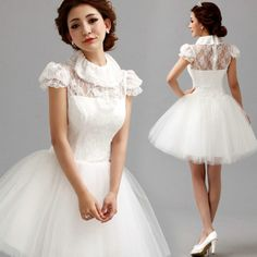 Fashionable White Lace Prom Dress Bridal Party Dresses, Prom Dresses, Wedding Dresses, Beautiful Cocktail Dresses, Knee Length Shorts, Wedding Designs, White Lace, Flower Girl Dresses, Gowns