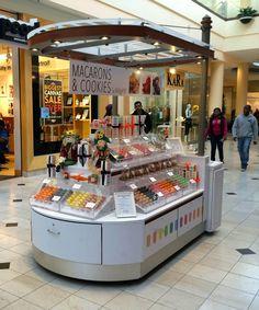 Little carts of joy (roosevelt field mall) kiosk design, booth design, reta Kiosk Store, Mall Kiosk, Stand Design, Booth Design, Healthy Dog Treats, Healthy Foods To Eat, Cupcake, Kiosk Design, Eating Before Bed