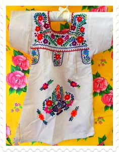 baby frida embroidered mexican tunic baby dress