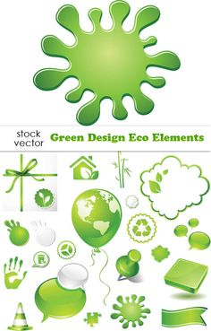 Free - Elements of Green Eco vecto