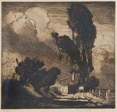 Frank Brangwyn. The Storm. Etching, second state of two, 1904, 450 x 480mm