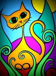 Resultado de imagen para macetas pintadas frida kahlo y gatos