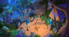 The Legend of Zelda : Camping in the Wild by ATArts.deviantart.com on @DeviantArt