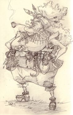 Baba Yaga - Sketch The creation of an old and gentle witch Character Design, Concept, Fairy Tale by Simone Krüger