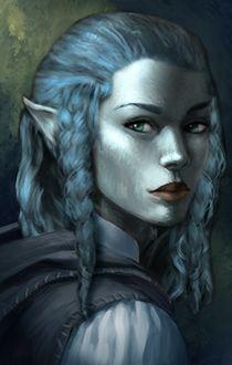 Female Air Genasi Portrait, Barbarian, Bard, Cleric, Druid, Fighter, Monk, Paladin, Ranger, Rogue, Sorcerer, Warlock, Wizard
