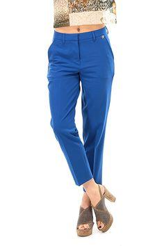 TWIN-SET SIMONA BARBIERI - Pantaloni - Abbigliamento - Pantaloni lunghezza al polpaccio con tasche sul davanti ed a filetto sul retro. Passanti per cintura. - BLUE - € 78.69