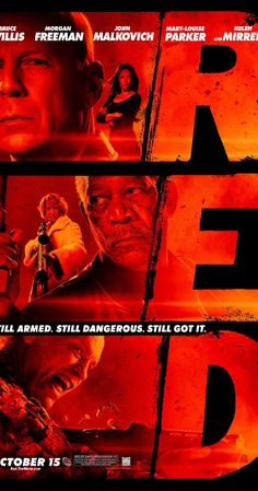 Directed by Robert Schwentke.  With Bruce Willis, Helen Mirren, Morgan Freeman, Mary-Louise Parker. When his peaceful life is threatened by a high-tech assassin, former black-ops agent Frank Moses reassembles his old team in a last ditch effort to survive and uncover his assailants.