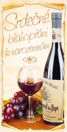 ání k narozeninám STIL 748 Happy Birthday Quotes, Practical Gifts, Unusual Gifts, Wine, Heart, Liquor, Hearts
