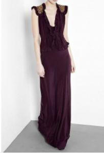 Maxi peplum dress by Malene Birger