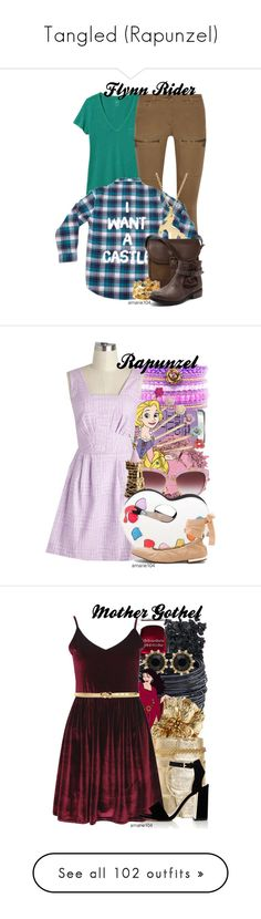 """""""Tangled (Rapunzel)"""" by amarie104 ❤ liked on Polyvore featuring Gap, Belstaff, Dainty Edge, DUBARRY, Carrera y Carrera, OPI, Clips, Dolce&Gabbana, Sophia Webster and Sam Edelman"""