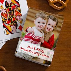 This would be a great Father's Day gift - personalized photo playing cards!