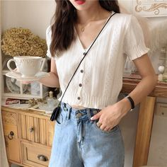 Discover fashion and beauty online with YesStyle! Cardigan Outfits, Casual Outfits, Girl Outfits, Cute Outfits, Fashion Outfits, Casual Clothes, Dress Outfits, Dresses, Korean Fashion Trends