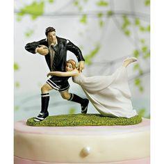 Figurine marié rugbyman- à l'unité