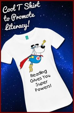 Cool t shirt to promote literacy and reading! Kick off the the new school year with a reading theme t shirt! by carlani