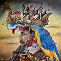 跟畫友一約這張,我好像是最後完成的!之前不太知道要怎麼下手,剛好前兩天看到新的神鬼奇航預告,得到了顏色的靈感。 Coloring book: Fantasia Author: Nicholas F. Chandrawienata Pencils I used: Polychromes, Caran dAche, Prismacolor, Rembrandt #fantsia #fantasiacoloringbook #pirate #pirateart #pirateparrot #parrot #adultcoloringbook #adultcoloring #coloringbook #coloringbookforadults #prismacolor #prismacolorpencils #carandache #rembrandt #polychromos #fabercastellpolychromos
