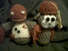 Crochet zombie and monkey