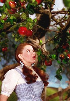 """What do you think you're doing?"" -Tree ""We've been walking a long way, and I was hungry and - did you say something?"" -Dorothy"