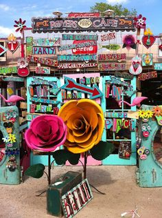 Melissa Brownlow's art in front of Royers Round Top Cafe, TX Top Cafe, Flea Market Style, Fru Fru, Antique Market, Store Displays, Eye Candy, Arts And Crafts, Antiques, Creative