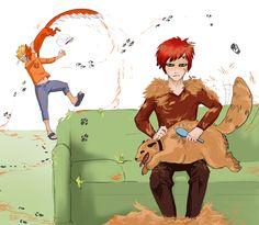 fur(Shukaku Kurama pet) by ananovik.deviantart.com on @deviantART Someones shedding half a tonne.
