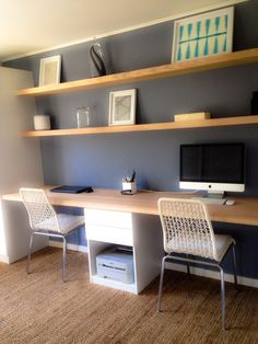 Home Office Decor Ideas For A Work Effective Office - Each of us has different n. Home Office Decor Ideas For A Work Effective Office – Each of us has different needs and material Cozy Home Office, Guest Room Office, Home Office Space, Home Office Design, Home Office Decor, Home Decor, Office Ideas, Office Setup, Office Organization