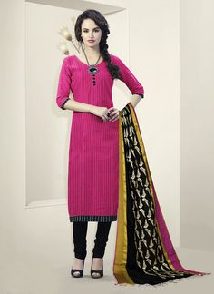 Pink Churidar Suit Wholesale Collection With Supplier From Surat