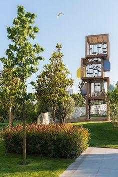 Playground at Zorlu Centre by Carve « Landscape Architecture Works Kids Outdoor Playground, Modern Playground, Outdoor Play Spaces, Playground Design, Modern Landscape Design, Contemporary Landscape, Landscape Architecture, Landscaping Work, Land Scape