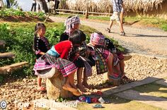 Hmong children at Mon Cham, 40 kms from Chiang Mai. This former poppy field now attracts lots of tourists because of the majestic views and the mild temperatures. Children in traditional dress from nearby Hmong villages pose for pictures. Poses For Pictures, Chiang Mai, Traditional Dresses, Poppy, Children, Young Children, Photo Poses, Boys, Kids