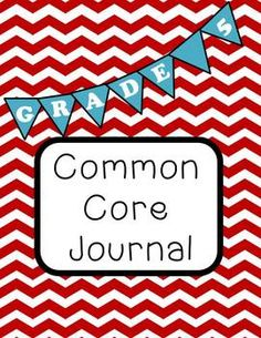 Kindergarten thru 5th available common core journal checklist
