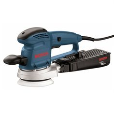 Bosch Random Orbital Sander at Lowe's. The Bosch Random Orbit Sander/Polisher has an integral pad-dampening braking system to eliminate swirl marks on the finished piece. Best Random Orbital Sander, Power Sander, Air Miles Rewards, Tool Bench, Variables, Canisters, Power Tools, Woodworking Projects, Wood Projects