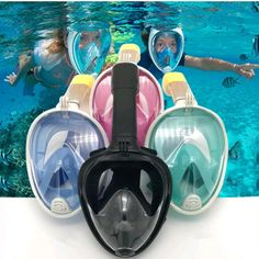 SoloUbeem [Newest Version] Snorkeling Face Mask Foldable - 180 Panoramic View Free Breathing Full Face Snorkeling Mask with GoPro Mount, Dry Top Set Anti-Fog Anti-Leak for Adults & Kids Snorkeling, Little Girl Toys, Toys For Girls, Snorkel Set, Barbie Sets, Funny Phone Wallpaper, Full Face, Unicorn Birthday, Cool Gadgets