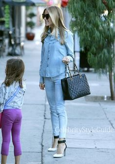 Seen on Celebrity Style Guide: Kristin Cavallari wore a Joe�s Jeans Vintage Western Shirt in Isy and Kristin Cavallari for Chinese Laundry Celestial Pumps while having dinner with friends West Hollywood October 7, 2013